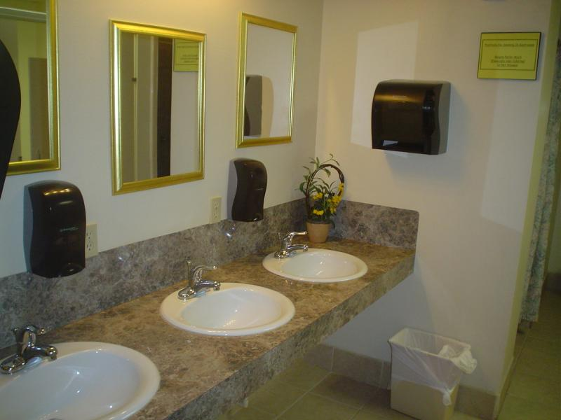 Large Clean Updated Restrooms